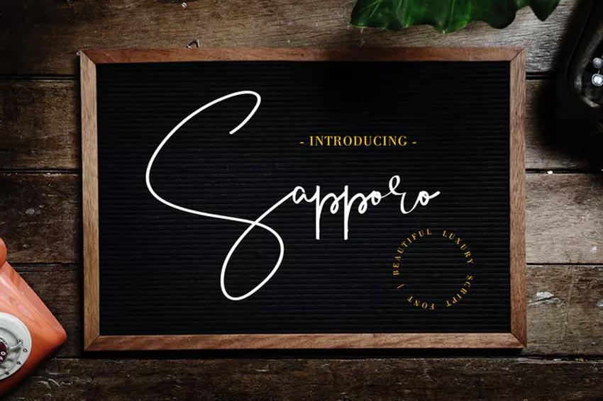 Sapporo Cursive Chalk Font