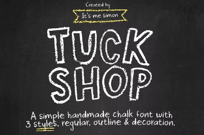 Tuck Shop Chalk Font