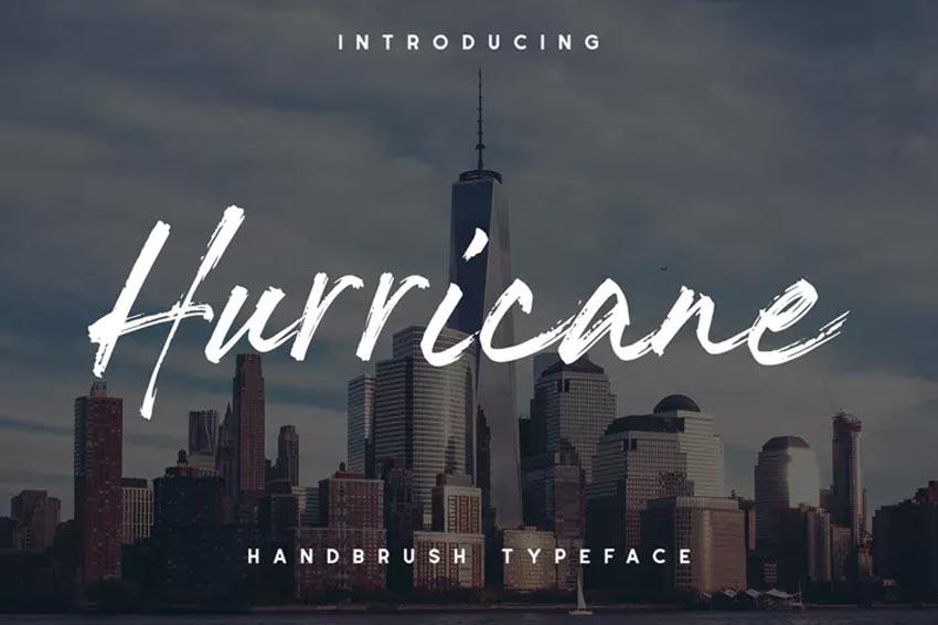 The Hurricane Handbrush Chalk Font