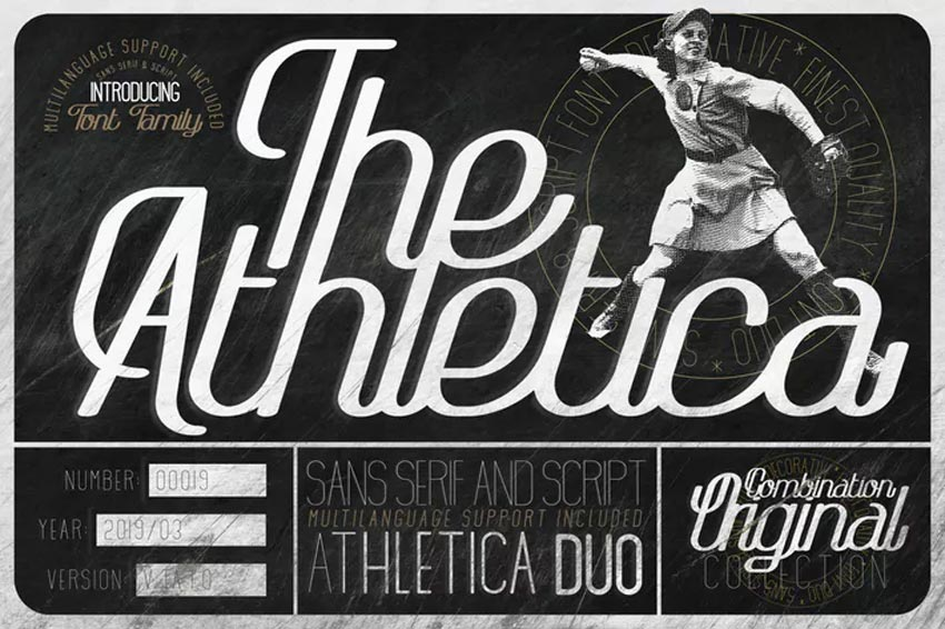 The Athletica Chalkboard Font