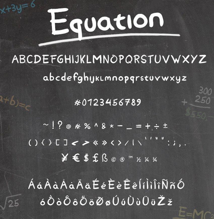 Equation Chalkboard Font