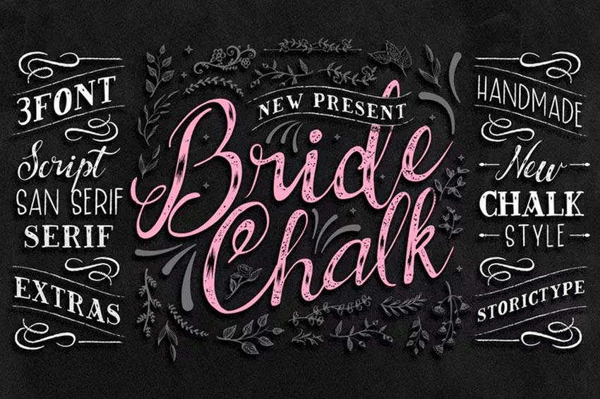 BrideChalk Typeface