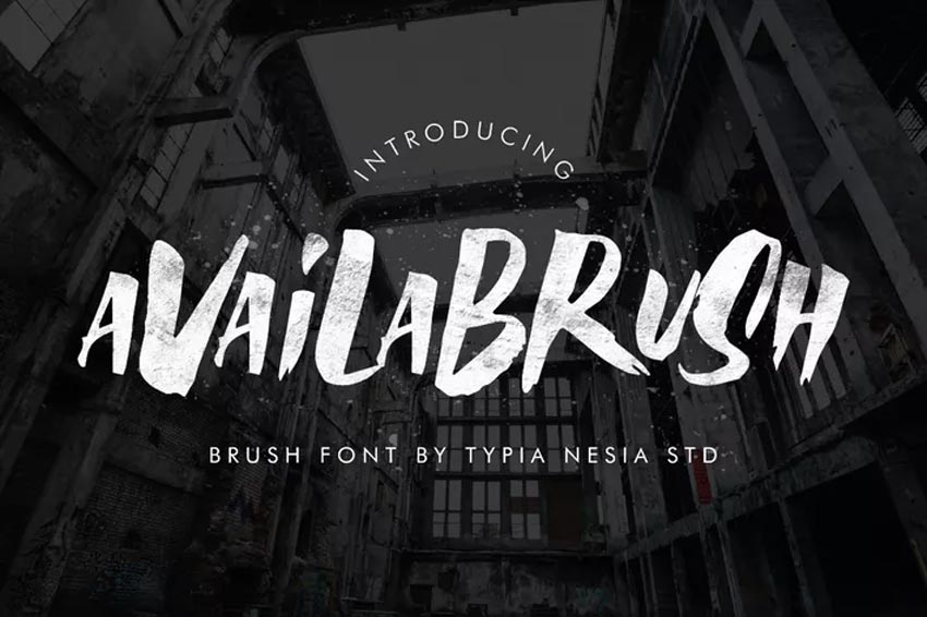 AvailaBrush Chalk Font