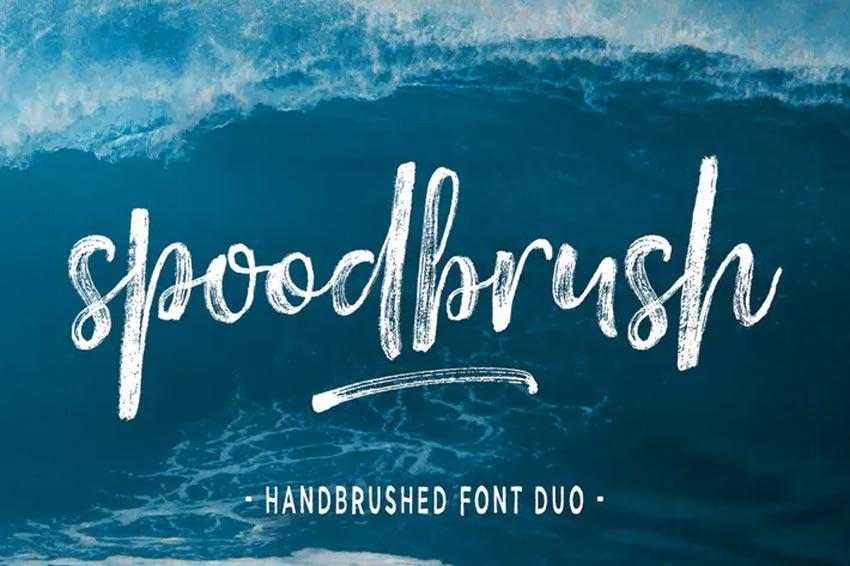 Spoodbrush Chalk Font