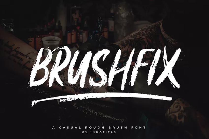 Brushfix Chalk Font