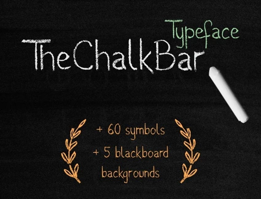 The Chalk Bar Typeface - Chalkboard Font