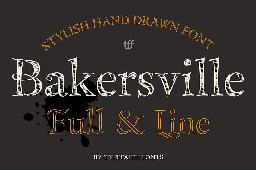 Bakersville Chalkboard Font