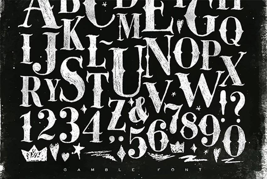 Gamble Chalkboard Font