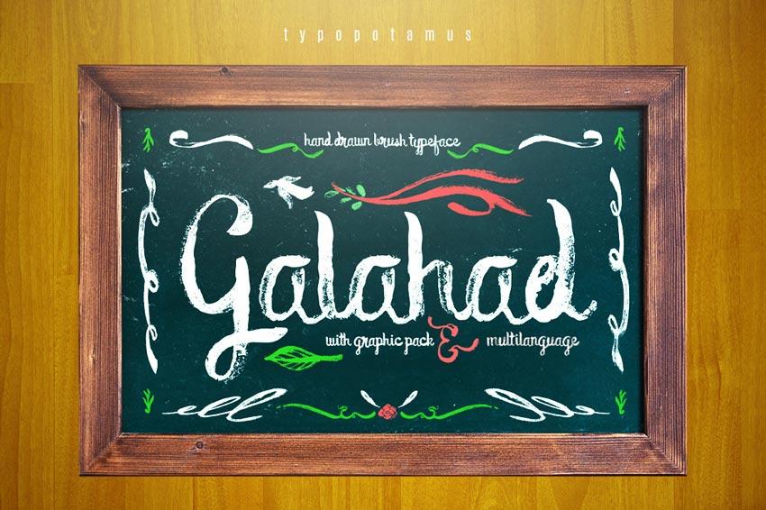 Galahad Chalkboard Typeface