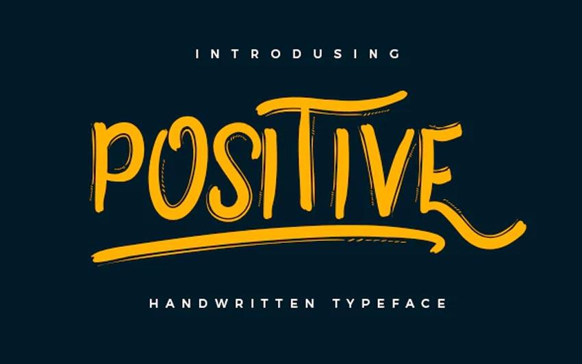 Positive Chalkboard Writing Font