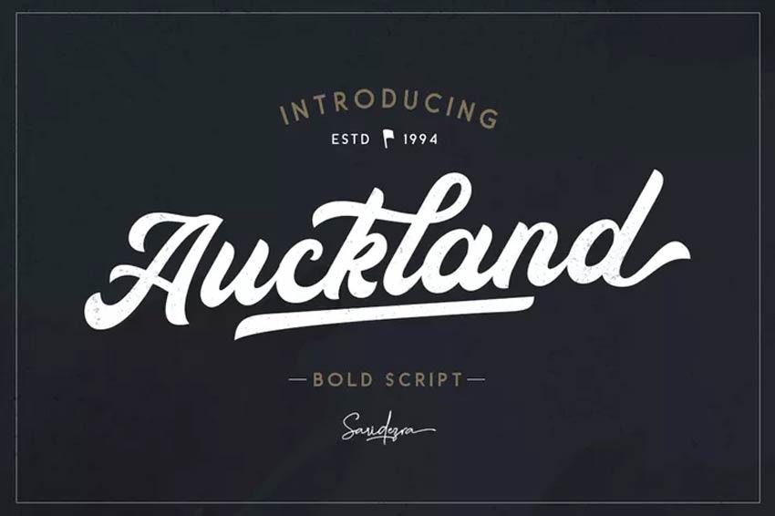 Auckland - Baseball Font
