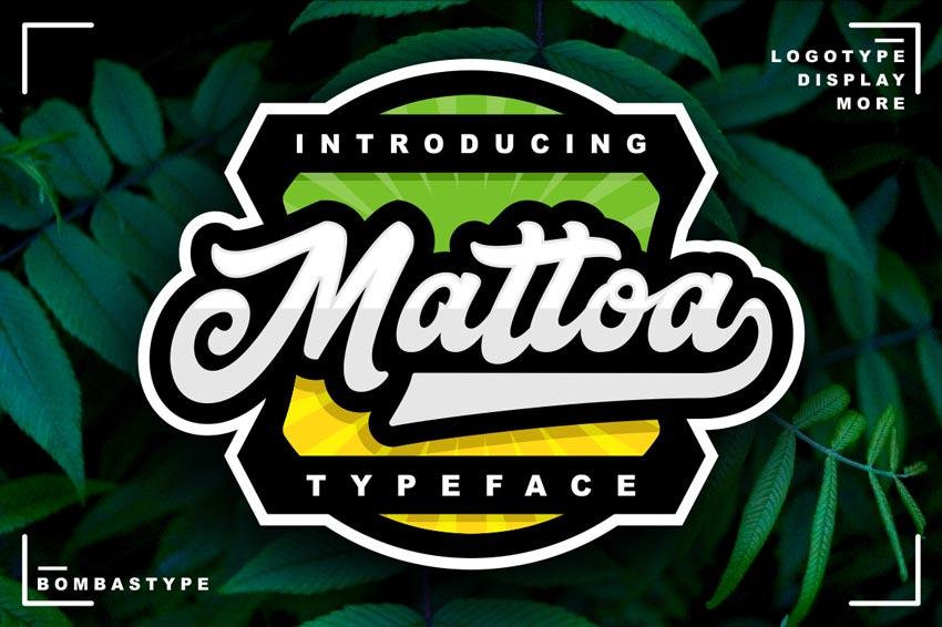 Mattoa - Vintage Baseball Font