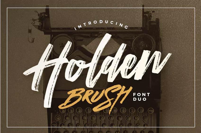Holden Brush Font