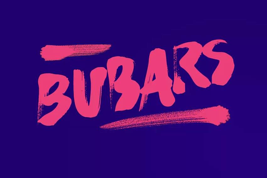 Bubarz Brush Font