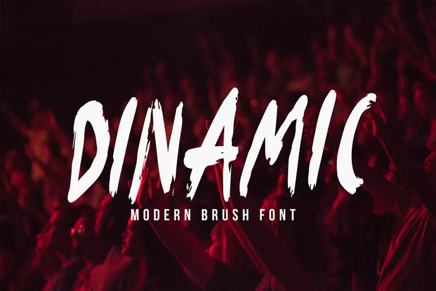 Dinamic Blow Paint Brush Type Font