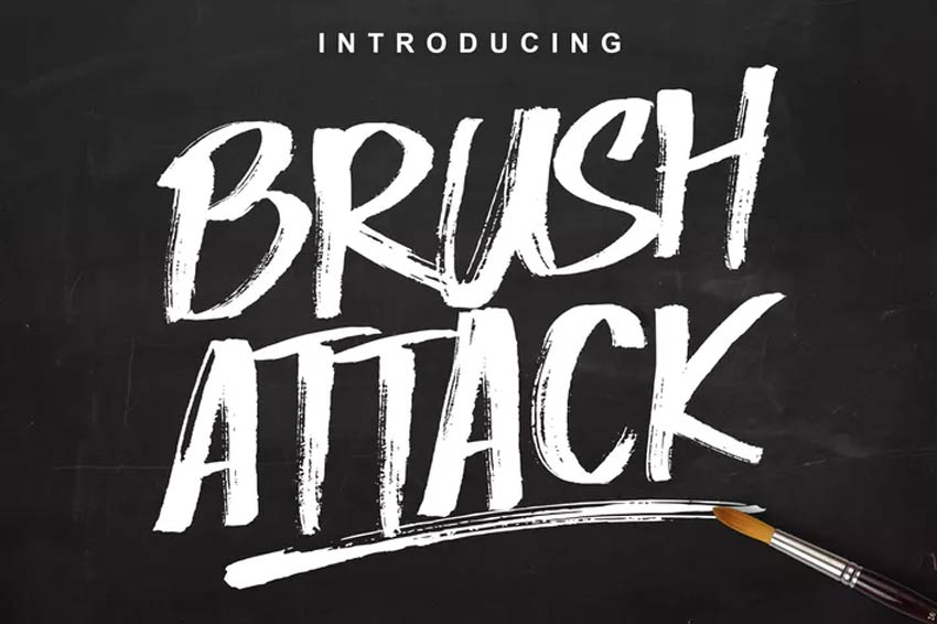 Brush Attack Font