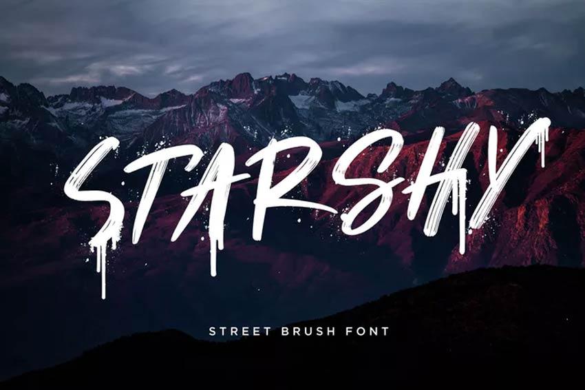 Starshy Street Paint Brush Font
