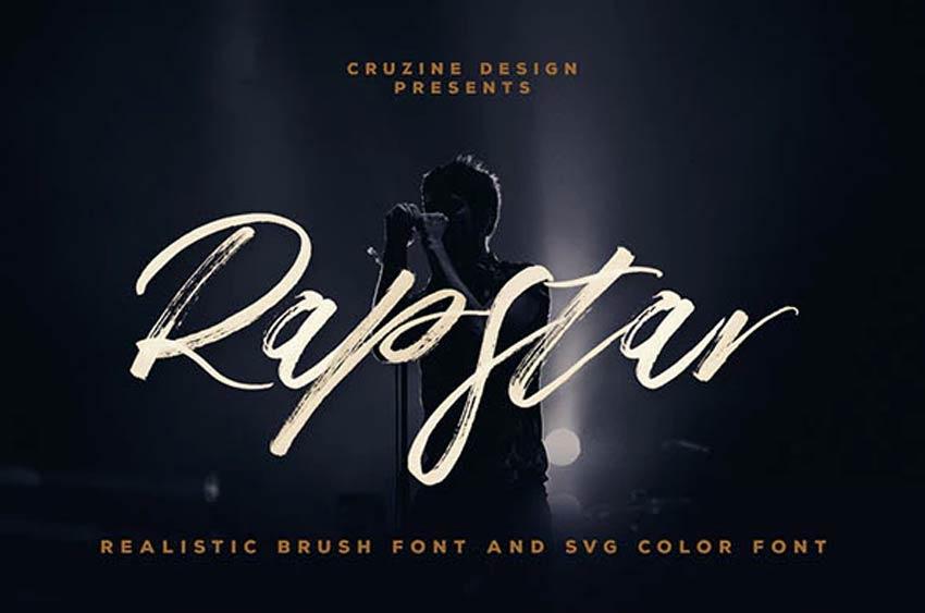 Rapstar Brush  SVG Font