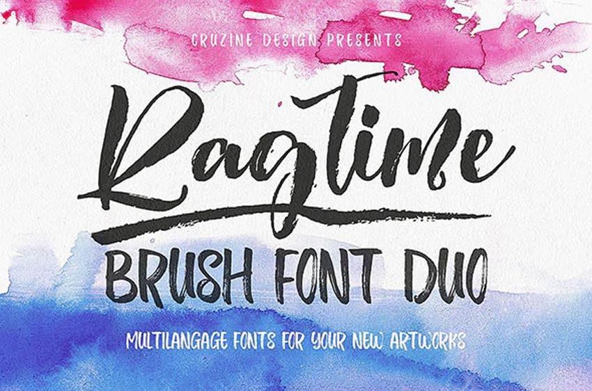Ragtime - Brush Font