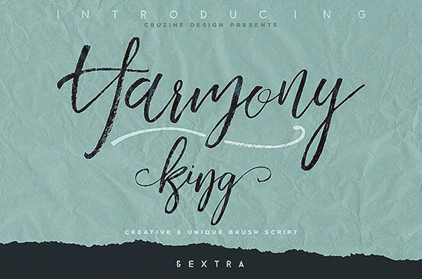 Harmony King - Brush Calligraphy Font