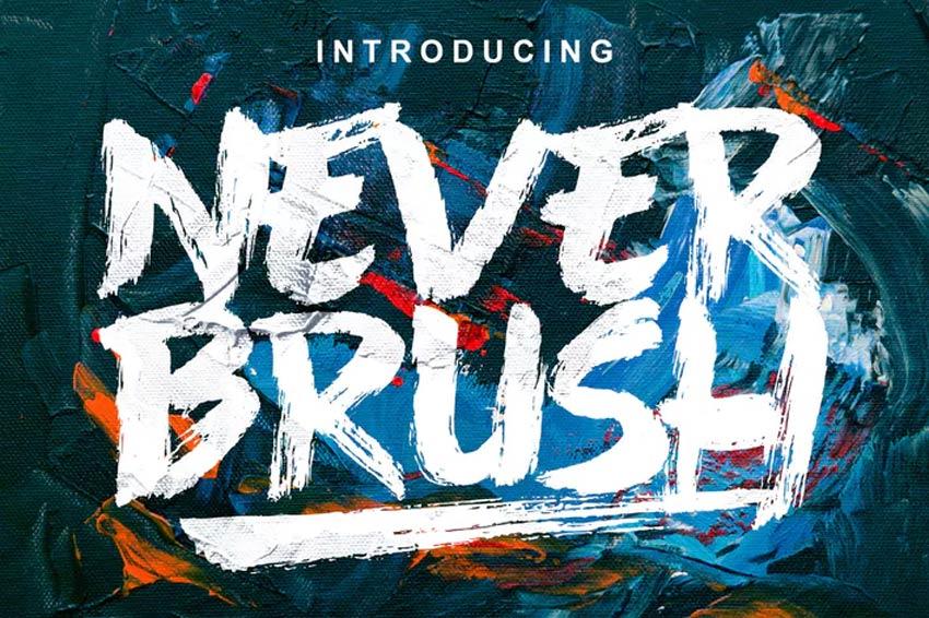 Never Brush Font