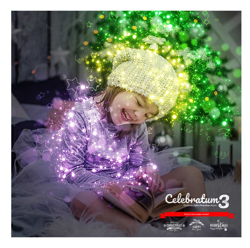 Christmas Lights Photoshop Action