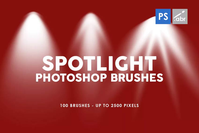 100 Spotlight Photoshop Brushes