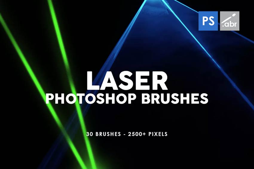 30 Laser Photoshop Stamp Brushes