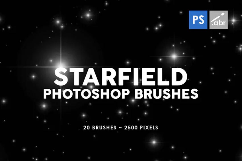 20 Starfield Photoshop Stamp Brushes