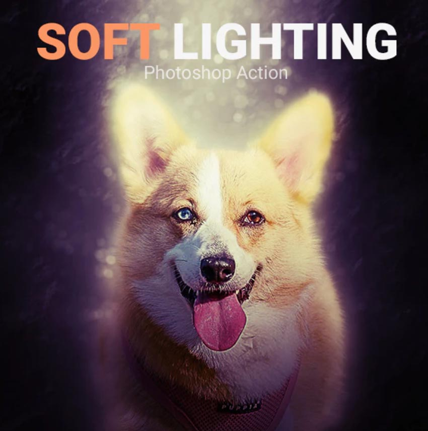 Soft Lighting Photoshop Action