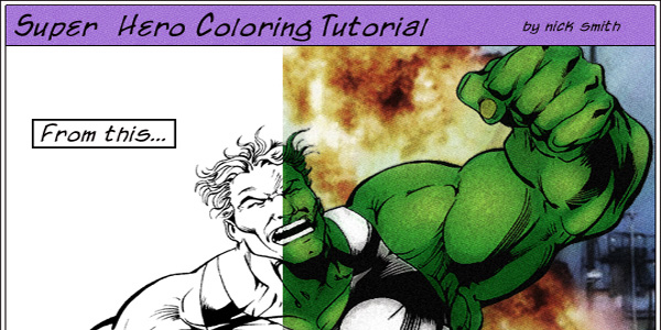 Super Hero Coloring Tutorial
