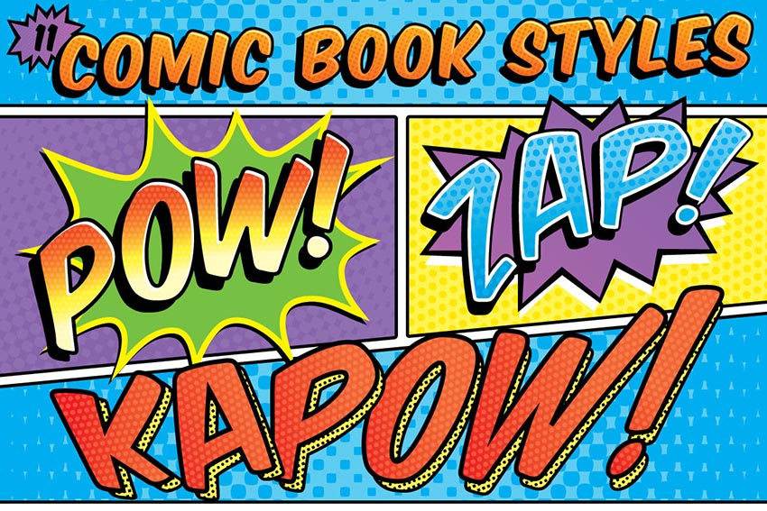 Book Cover Typography Generator : Insane comic book style photoshop effects and cartoon