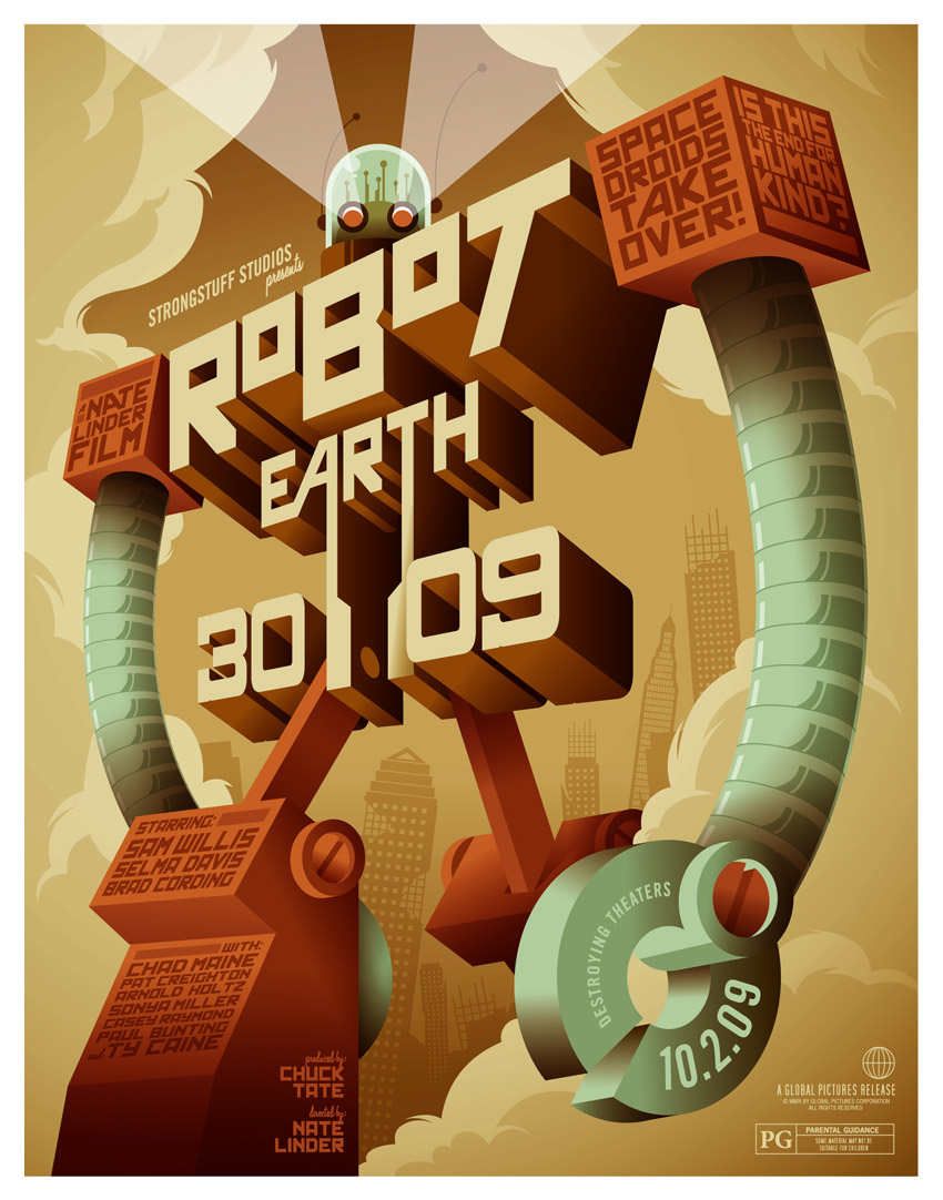 Robot Poster Vector Illustration Tutorial