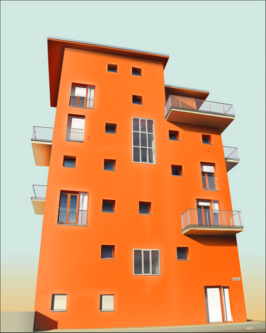 Realistic Vector Building Adobe Illustrator