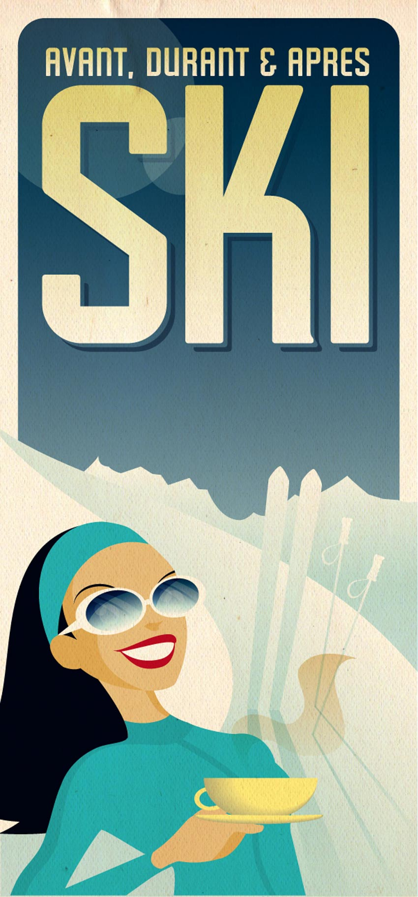 How to Create a VIntage Ski POster in Adobe Illustrator