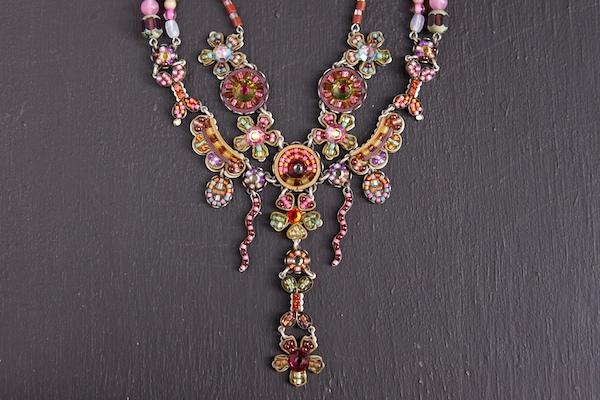 Necklace photographed with a reflector