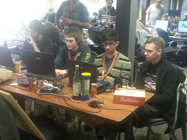 A game jam in progress