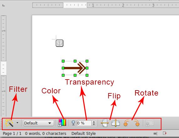 Clip art extended toolbar