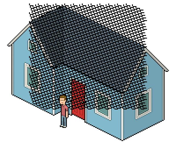 Create An Isometric Pixel Art House In Adobe Photoshop