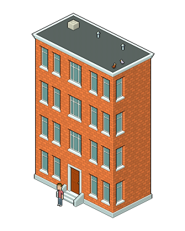 Create an Isometric Pixel Art Apartment Building in Adobe ...
