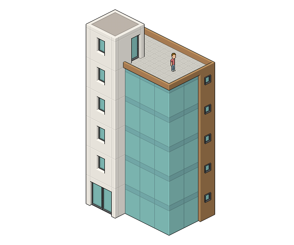 Create An Isometric Pixel Art Office Building In Adobe