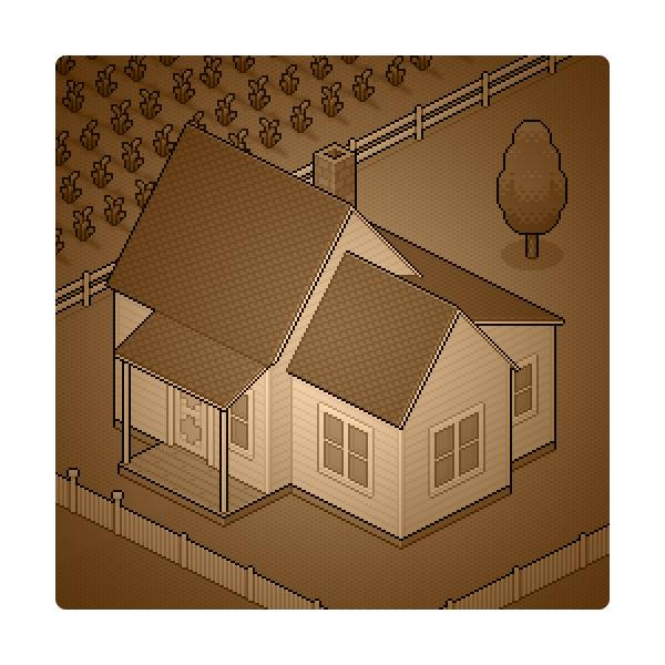 How to Create a Sepia Kansas Farm in Isometric Pixel Art With Adobe Photoshop