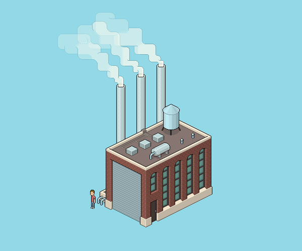 How to Create an Isometric Pixel Art Factory in Adobe Photoshop