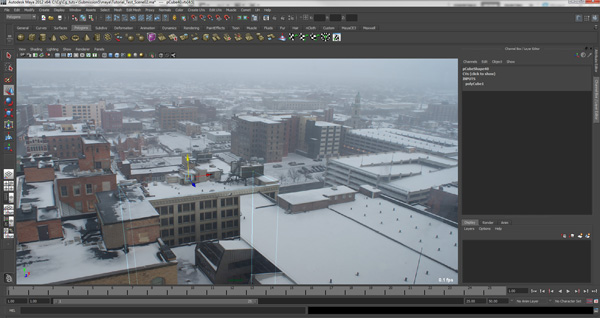 Create an Atmospheric Snow Shot in Nuke and Maya