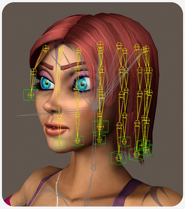 Game Character Creation Series: Kila Chapter 9 - Hair Rigging