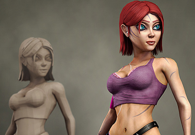 Preview for Game Character Creation Series: Kila Chapter 4 - Texture Baking & Building