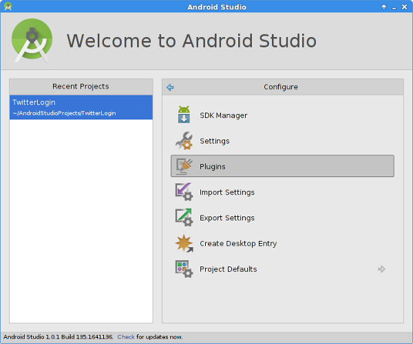 Install Fabric for Android Studio