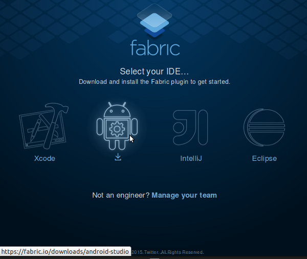Download Fabric for Android Studio