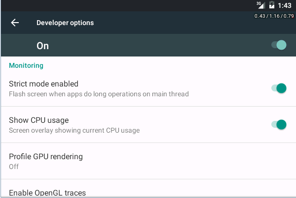 Optional Developer Options