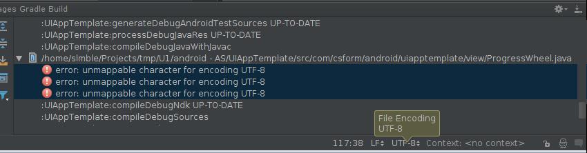 Character encoding fix